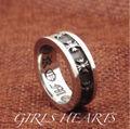 送料無料19号クロムシルバーステンレスクロス十字架リング指輪
