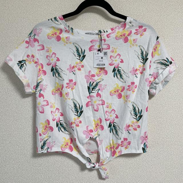【未着用】Bershka花柄Tシャツ(Bershka(ベルシュカ) ) - フリマアプリ&サイトShoppies[ショッピーズ]