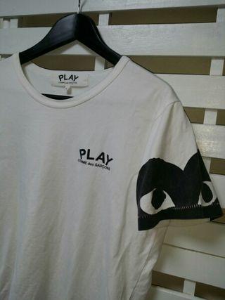 コムデギャルソン PLAY ショルダープリントTシャツ 白
