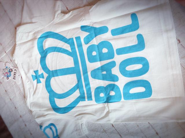 86ef55e6df98d 新品未使用韓国子供服 baby doll風ロゴTシャツ(ベビードール BABYDOLL ...