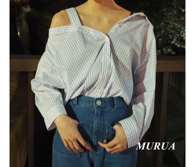 新品 MURUA ワンショルダーシャツ(MURUA(ムルーア) ) - フリマアプリ&サイトShoppies[ショッピーズ]