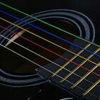 アコースティックギター用の レインボーカラー弦SET