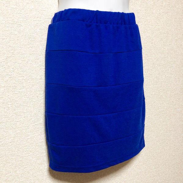 【L】濃ブルーボーダー切替バンテージスカート