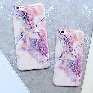 大人可愛いシンプル大理石柄★iPhone6プラス★ピンク色