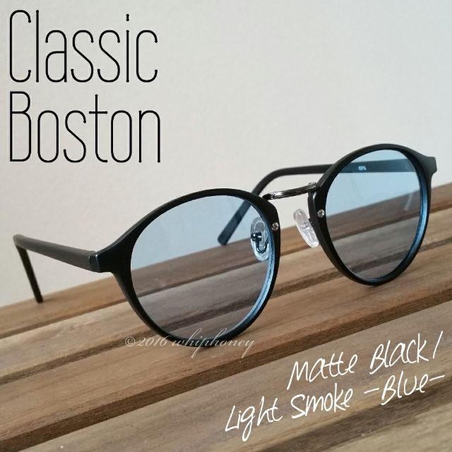 ラウンドボストンだて眼鏡マットブラック ライト ブルーレンズ(その他 ) - フリマアプリ&サイトShoppies[ショッピーズ]
