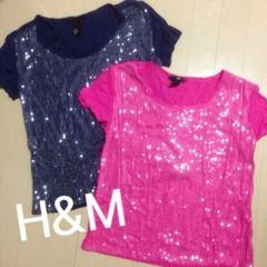 H&MスパンコールTシャツ