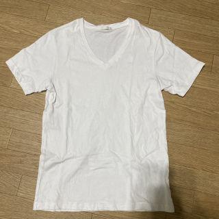 無地VネックTシャツ