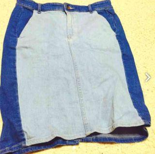裏表色が違う変わったスカート
