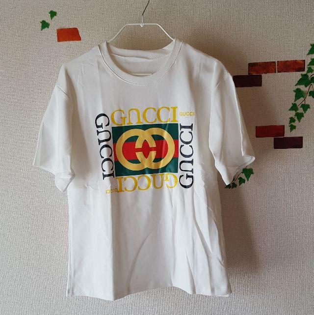 新品 ロゴ Tシャツ ホワイト GUCCI 菅田将暉 SLY(Gucci(グッチ) ) - フリマアプリ&サイトShoppies[ショッピーズ]