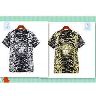 VERSACE(ヴェルサーチ) プリント ロゴ  Tシャツ