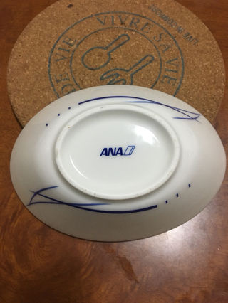 A N A ロゴ入り機内食用お皿