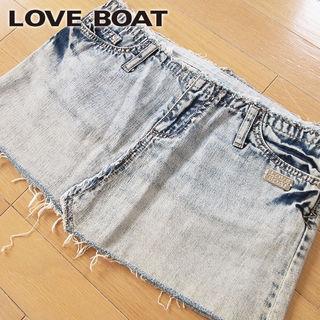 美品 M LOVE BOAT ラブボート デニムミニスカート