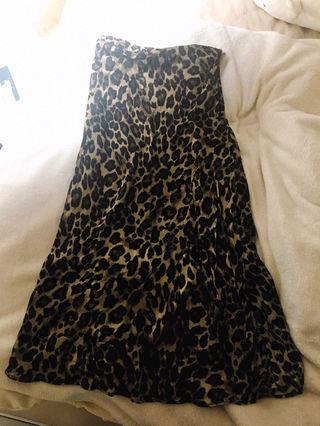 H&M レオパード柄フレアスカート 34サイズ