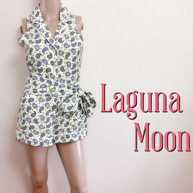 試着のみラグナムーン リボンベルト付き オールインワン(Laguna Moon(ラグナムーン) ) - フリマアプリ&サイトShoppies[ショッピーズ]
