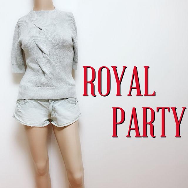 試着のみロイヤルパーティー 5分そで 薄手ニット(ROYAL PARTY(ロイヤルパーティー) ) - フリマアプリ&サイトShoppies[ショッピーズ]