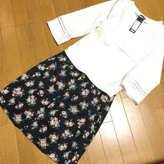 ディスコート花柄スカート
