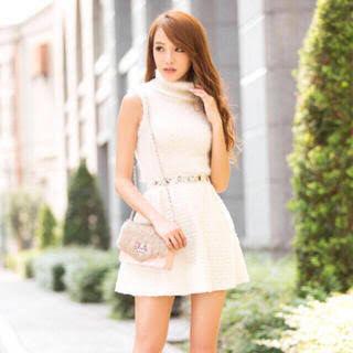 ウエストビジュー ツイードスカート ホワイト Sサイズ