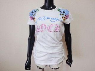 074・Ed HardyスワロスキーTシャツ
