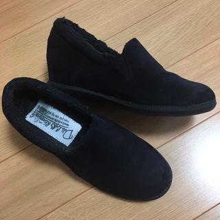 美品 定価5000円 スリッポン 厚底 ブラック スニーカー