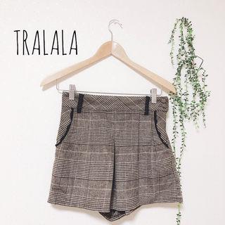 TRALALA グレンチェックショートパンツ