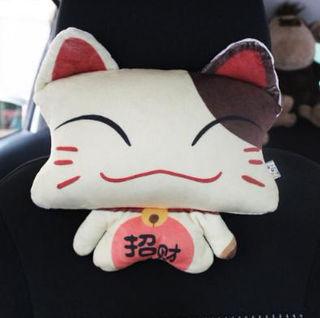 カーシート ヘッドレストぬいぐるみ 招き猫タイプ