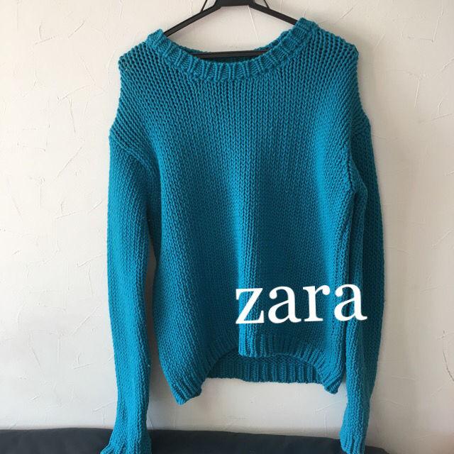 zaraブルーニット(ZARA(ザラ) ) - フリマアプリ&サイトShoppies[ショッピーズ]