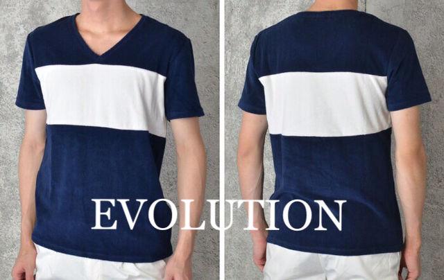 定価4,212円Vネック パイルマリンTシャツ紺 - フリマアプリ&サイトShoppies[ショッピーズ]