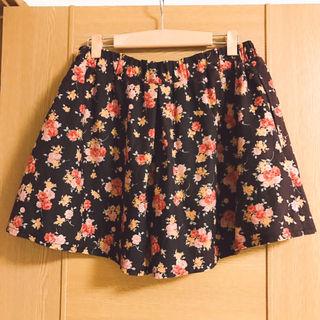アルシーヴ 茶色のキュロットスカート