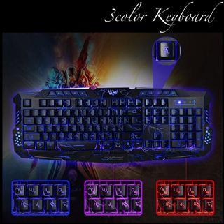 新品》3色に光るキーボード ゲーミングキーボード 送料無料