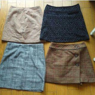 台形スカート4枚セット