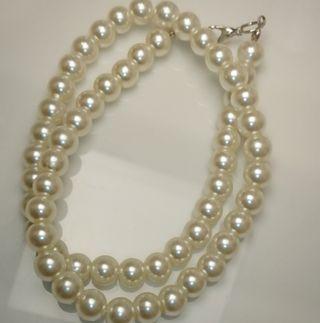 【新品】8mm パール 模擬真珠 ネックレス【ジャンク品】