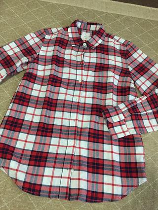 GAP 未使用 チェックシャツ レディースXXXSサイズ 赤