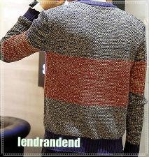 ニット ブラウン ライン ニットセーター セーター