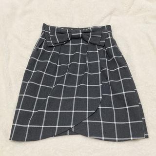 アストリアオディールチェック柄リボンスカート