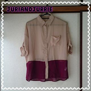 JURIANO JURRIEバイカラーシャツ