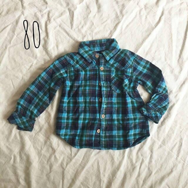 ベビー チェックシャツ 80