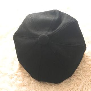 キャスケット ブラック 帽子 韓国 無地 ハット