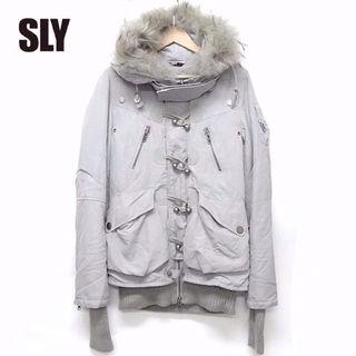 SLY (スライ)  裏フリース中綿ファージャケット R60