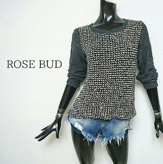 ROSE BUD*ツイードショートニット