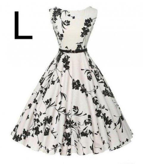 新品ベルト付き花柄綺麗ワンピース ホワイト L - フリマアプリ&サイトShoppies[ショッピーズ]