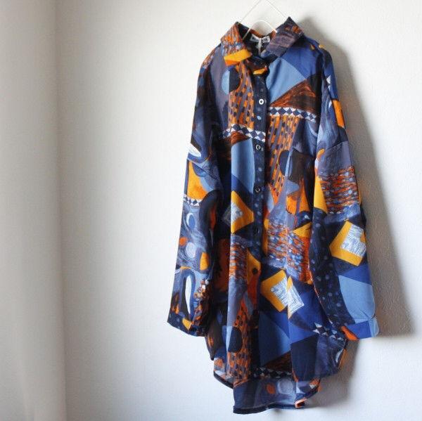 【即日発送】 大きいサイズ 総柄 ポリシャツ モード系 - フリマアプリ&サイトShoppies[ショッピーズ]