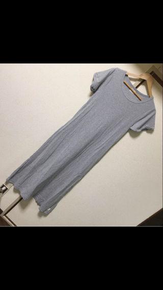 Ungrid半袖マキシ丈ワンピース