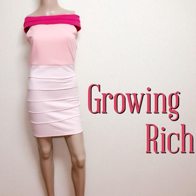 試着のみグロウイングリッチ 鬼くびれオフショルワンピース(Growing Rich(グローウィングリッチ) ) - フリマアプリ&サイトShoppies[ショッピーズ]