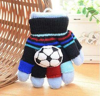 小さい お子様用 キッズ 手袋 取り外し可能 サッカー