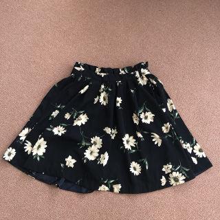 花柄 キュロットスカート