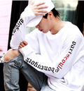 BIGBANG愛用スーパーロングスリーブ T 白/黒