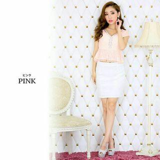 定価6980円 大人気ピンク レース ツーピース ドレス
