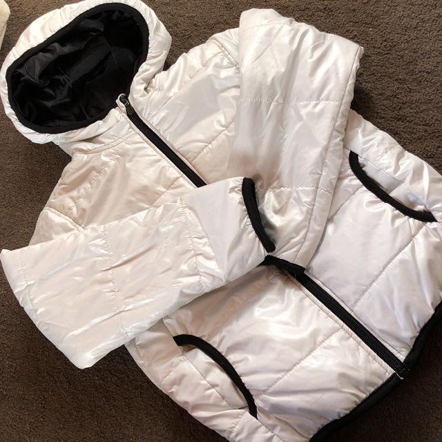 ホワイトダウンジャケットシャカジャン130