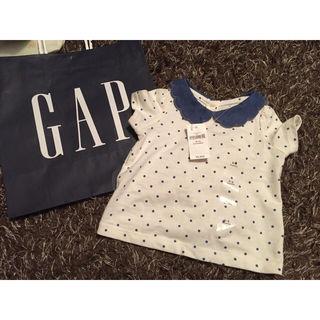 540 babygap ドット柄スカラップ襟付きシャツ 新品