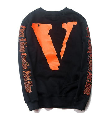Vlone OFF-WHITEブラック長袖 パーカー 2色